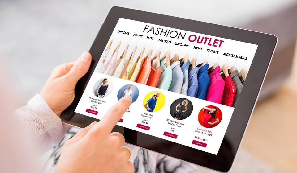 Moda na segunda posição das Vendas Online programar sites